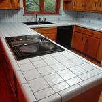 Tile counters contain porous, bacteria filled grout lines.